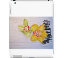Orchids and stones  iPad Case/Skin