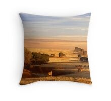 Sheep Grazing at Sunset - Kanmantoo, South Australia Throw Pillow