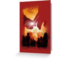 DEADBUNNEH - apocalypse RED Greeting Card