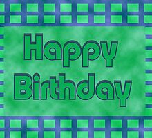 Happy Birthday green block by Donna Grayson