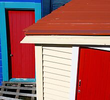 Boatsheds, Wellington, NZ by Mike Warman
