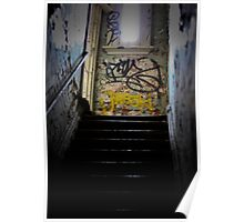 up the stairs to your left Poster