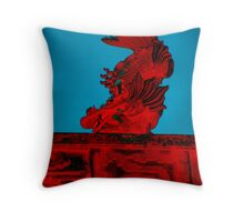 Burn't Dragon Throw Pillow
