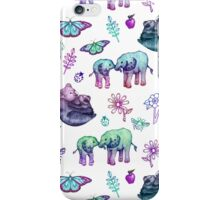 Just a Few of My Favorite Things - blues & purples  iPhone Case/Skin