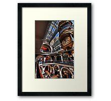 QVB angles Framed Print
