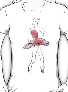 ballerina figure, watercolor illustration T-Shirt