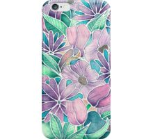 Blossoming - lilac, mint & aqua iPhone Case/Skin