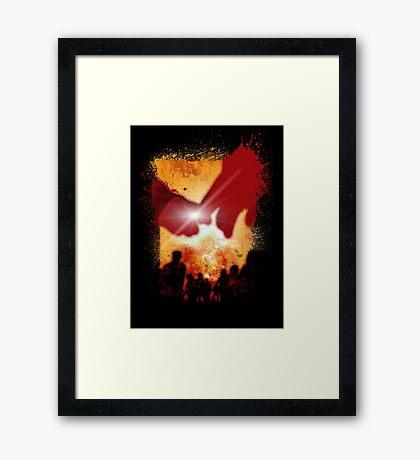DEADBUNNEH - apocalypse BLACK Framed Print
