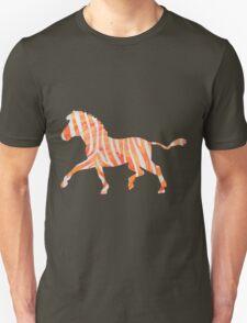 Zebra Orange and White Print Unisex T-Shirt