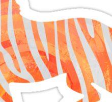 Zebra Orange and White Print Sticker