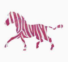 Zebra Hot Pink and White Print by Traci VanWagoner