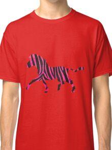 Zebra Black and Hot Pink Print Classic T-Shirt