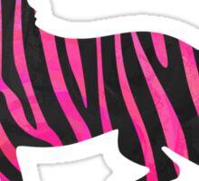 Zebra Black and Hot Pink Print Sticker