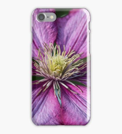 Pink Clematis - Macro Photography iPhone Case/Skin