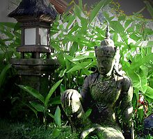 Statue in Murni's Villas, Bali by JonathaninBali