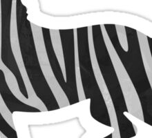 Zebra Black and Light Gray Print Sticker