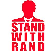 Stand With Rand Suit [Red] Photographic Print