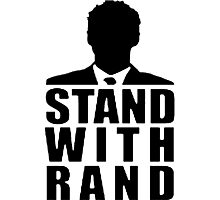 Stand With Rand Suit [Black] Photographic Print