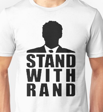 Stand With Rand Suit [Black] Unisex T-Shirt