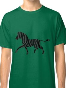 Zebra Black and Gray Print Classic T-Shirt