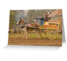 Before the Baker's Cart Greeting Card