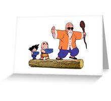 Dragonball DB -  Roshi Training Goku & Krillin Greeting Card