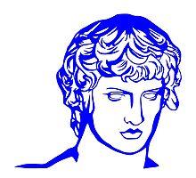 blue antique sculpture Photographic Print