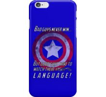 Good Guys Watch Their #!$@*% Language (Avengers) iPhone Case/Skin