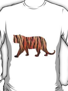 Tiger Hot orange and Black Print T-Shirt