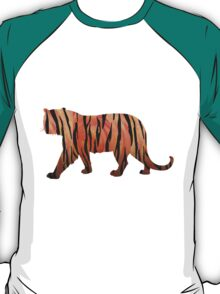 Tiger Hot orange and Black Print T-Shirt