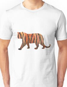 Tiger Hot orange and Black Print Unisex T-Shirt