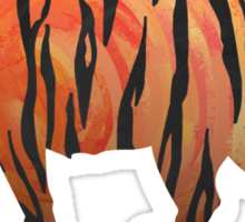 Tiger Hot orange and Black Print Sticker