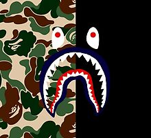 Bape Camo & Shark by bradjordan412