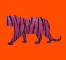 Tiger Hot Pink and Black Print Kids Tee
