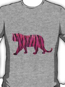 Tiger Hot Pink and Black Print T-Shirt