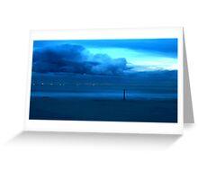 Aqua Storm Greeting Card