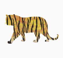 Tiger Black and Orange Print by Traci VanWagoner