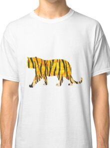 Tiger Black and Orange Print Classic T-Shirt