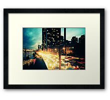 Manhattan Freeway Framed Print
