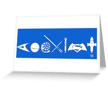 COEXIST SCI FI VERSION 2015 (revised) Greeting Card