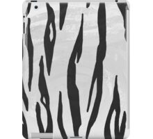 Tiger Black and White Print iPad Case/Skin
