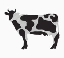 Cow Black and White Print by ImagineThatNYC