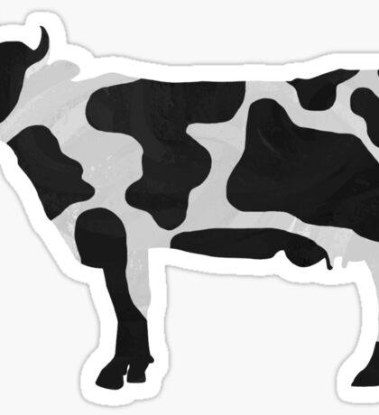 Cow Black and White Print Sticker