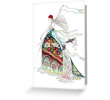 Awake, north wind, and come, south wind!  Greeting Card