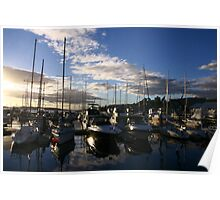 Boats at Franklin Wharf Poster