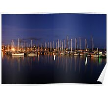 Hobart Night View Poster