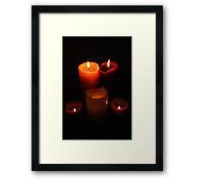 Burning Framed Print