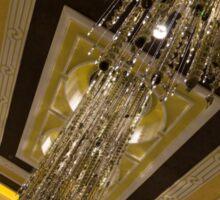 Golden Jewels and Gems - Sparkling Crystal Chandeliers  Sticker