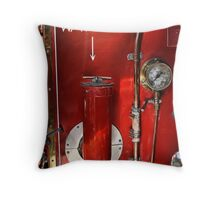 Water on the Rear of Fire Truck Throw Pillow