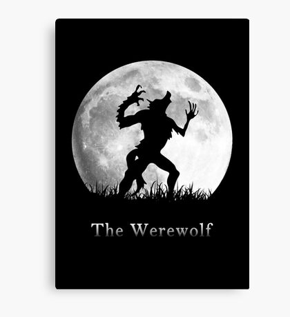 Werewolf at the Full Moon Canvas Print